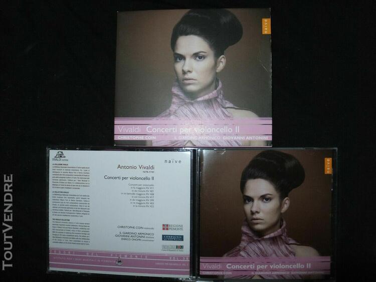 cd vivaldi / concerti per violoncello ii / coin / antonini /