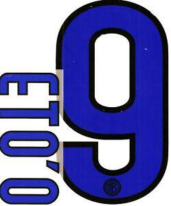 Flocage officiel (stilscreen) - inter milan - eto'o #9