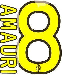 Flocage officiel (stilscreen) - juventus turin - amauri #8