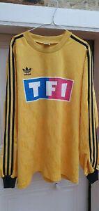 Maillot foot adidas ancien porté coupe de france fff match