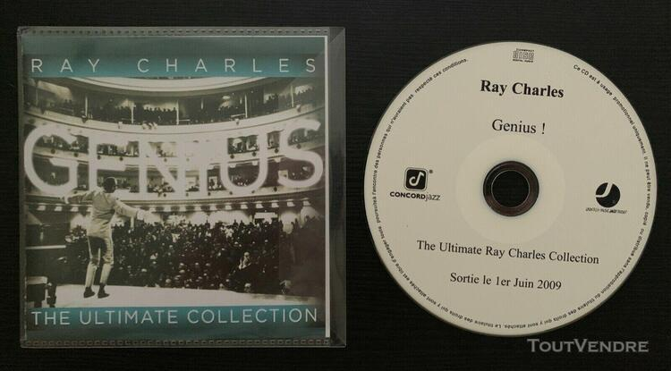 ray charles - genius ! - ultimate collection - promo cd fran