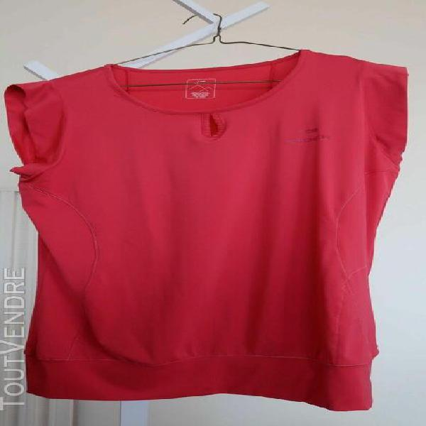 T-shirt de randonnee eider rose vif sans manches t42/44