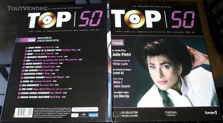 top 50 livre et cd julie pietri lio bibie les avions the cur