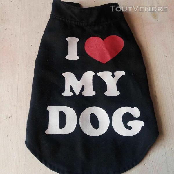 """Veste, manteau, petit chien """"i love my dog """""""