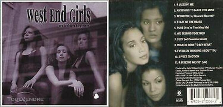 west end girls - cd - hip-hop et r&b - 1994 - (voir tracklis