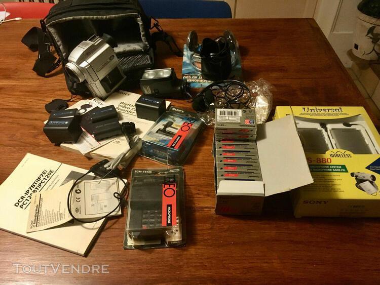 Caméscope sony handycam dcrpc 110e avec accessoires
