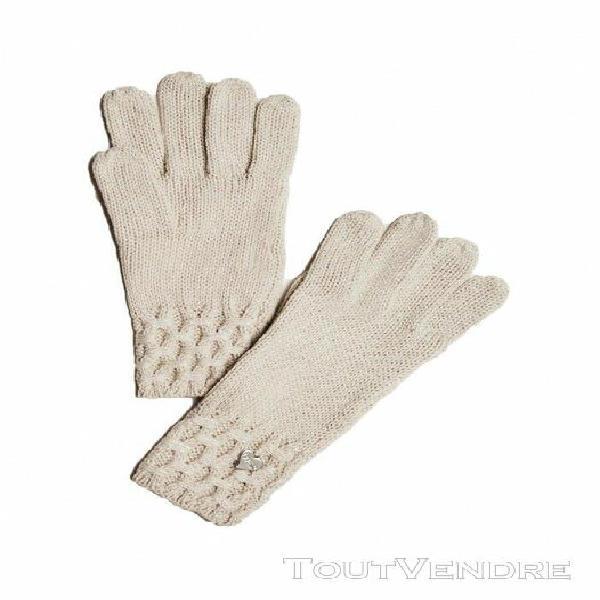 Guess femme gants laine aw8199 stone - - m