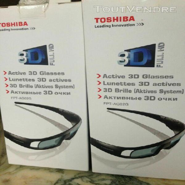 Lot de 2 lunettes 3d active toshiba neuves