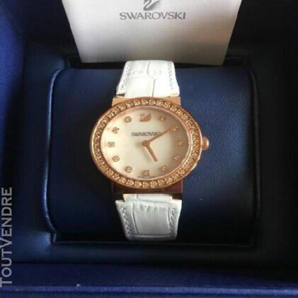 Montre swarovski femme authentique 5027219 cristaux or rose