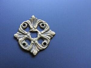 Plaque entree de serrure ancienne rosace bronze meuble