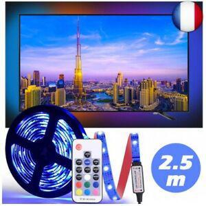 Ruban led 2.5m, tv bande de lumière etanche