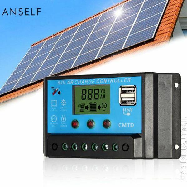 10a 12.6v lcd régulateur de charge solaire pwm chargeant le