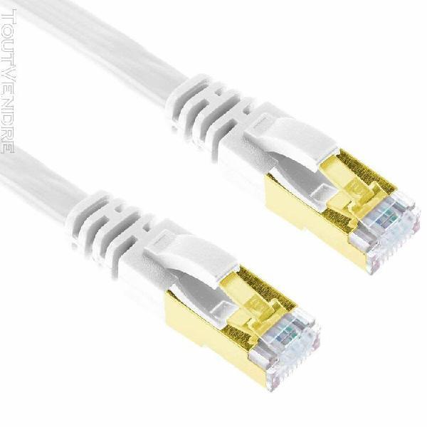 G-shield cat7 câble réseau plat ethernet gigabit 10gbps