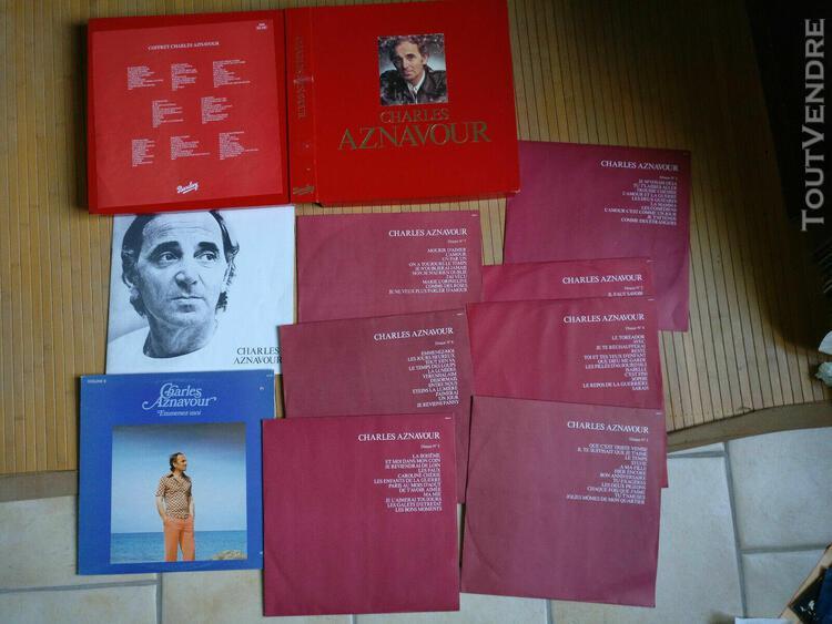 Charles aznavour rare coffret rouge barclay, il manque le d