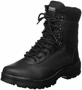 Chaussures montantes boots swat cuir noir 3m thinsulate