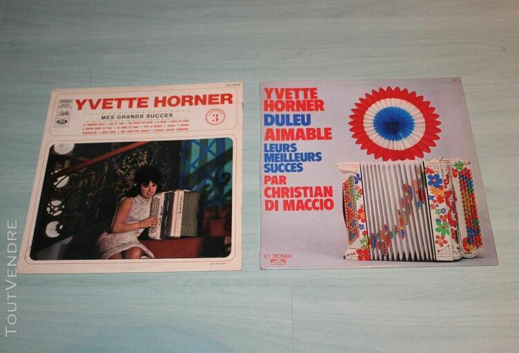"""Disque vinyl 33 tours """" yvette horner """""""