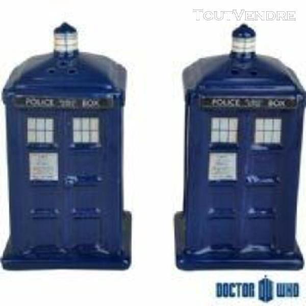 Doctor who - salière et poivrière tardis en céramique