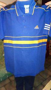 Polo tee shirt adidas vint âge taille l