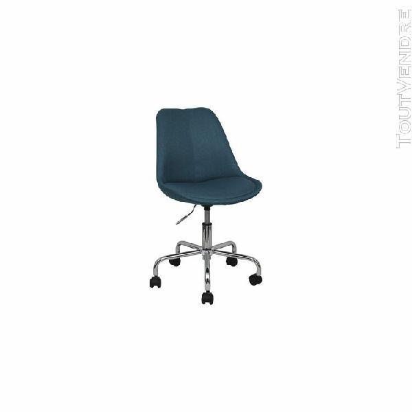 Swivel chair lips - dark blue fabric