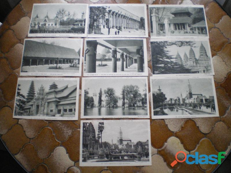 Cartes postales sur le thème de l'exposition coloniale de 1931.