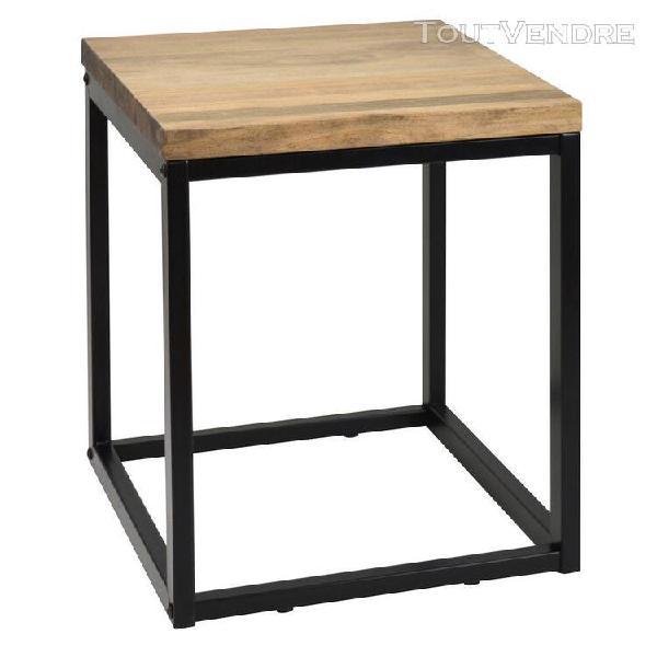 Table basse chevet icub style industriel vintage bois et