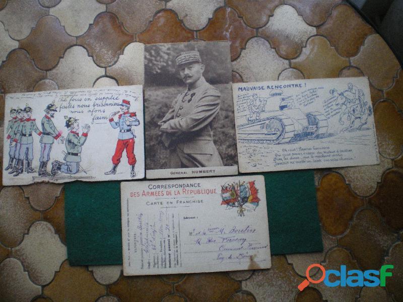Cartes postales. général humbert et correspondance des armées.