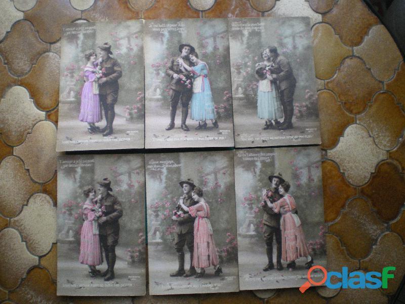 Cartes postales représentant des soldats américains.