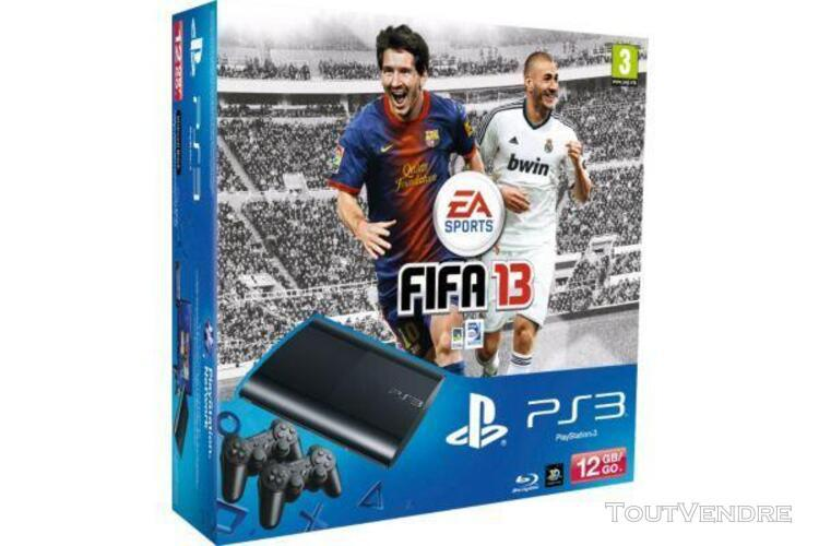 Console sony ps3 12go + 2 manettes + fifa 13