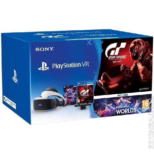 Sony playstation vr + eye camera v2 + gran turismo sport + v