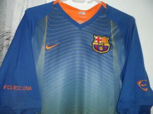 Barcelona cf vintage 2007 maillot nike pré-match ext taille