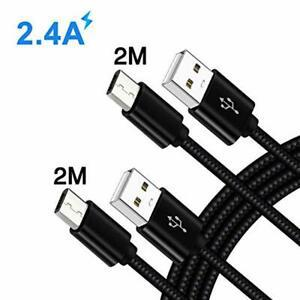 Cable micro usb charge rapide 2m 2m pour samsung galaxy a10