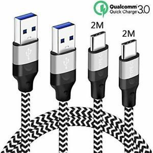 Cable usb c 2m 2m pour xiaomi mi 9 se 9t lite pro a3 note