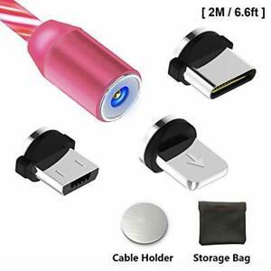 Câble usb c type c 3 en 1 magnétique câble chargeur