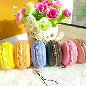 Kawaii soft dessert macaron cute cell phone charms key