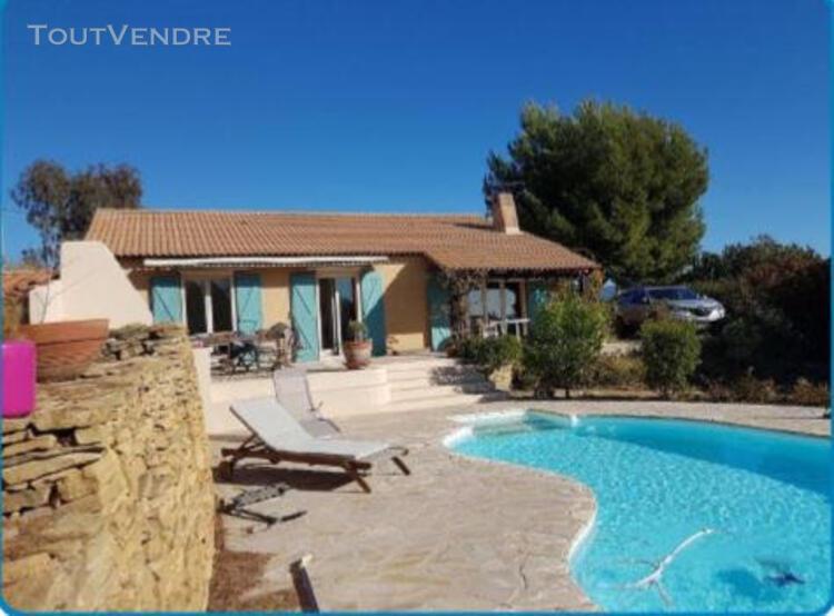 La cadière d'azur, villa t3 sur terrain clos avec piscine