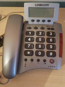 Telephone logicom grosses touches + voyant d'appel