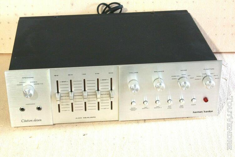 Harman kardon citation eleven 11 vintage audiophile preampli