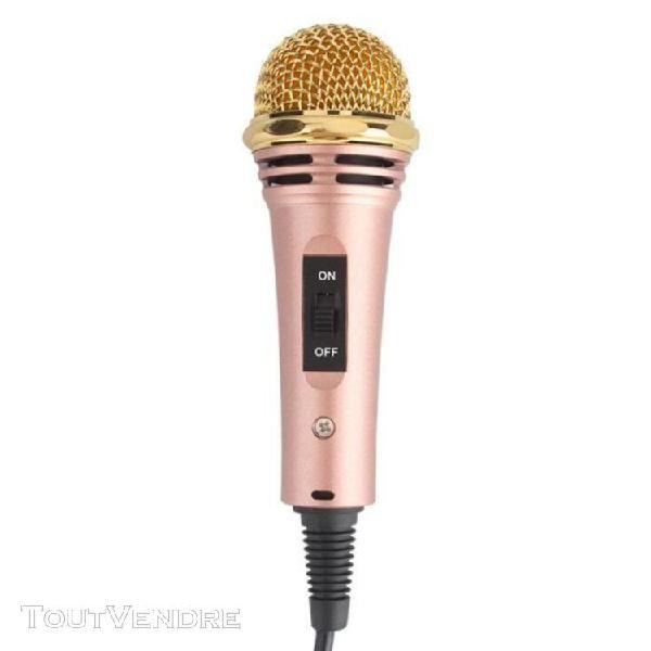 Microphone de chant condensateur 3.5mm jack enregistrement p