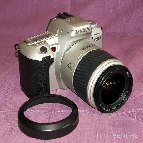 Minolta dynax 404 si équipé d'un zoom minolta 28 - 100 mm
