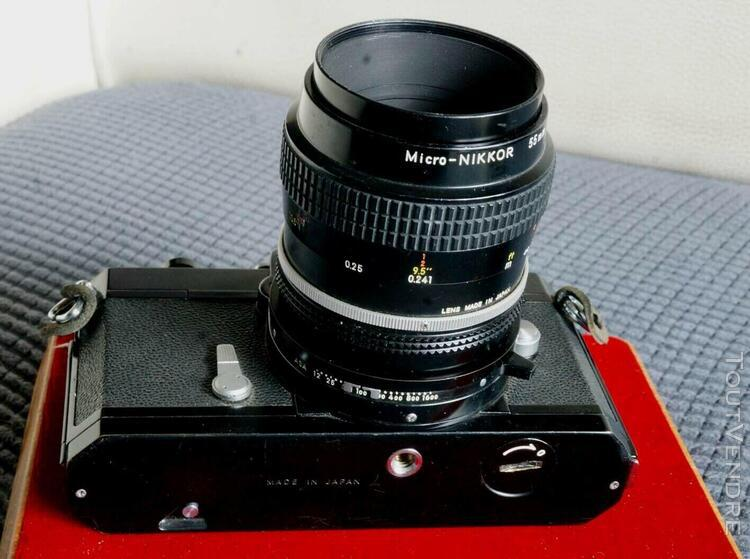 Nikon nikkormat noir - objectif micro nikkor 1:3,5/55mm