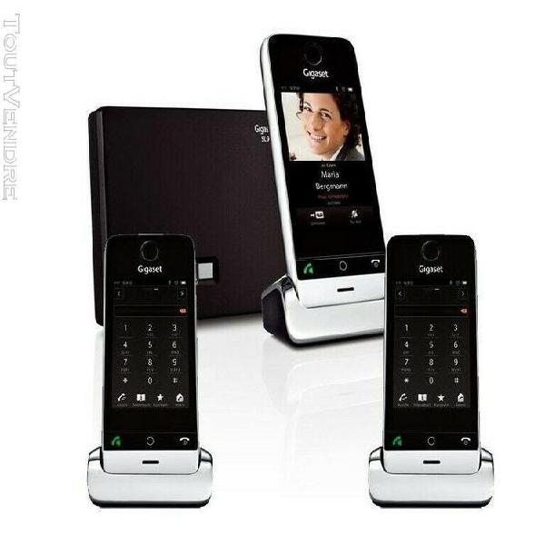 Téléphones gigaset sl930 trio noirs avec base dect