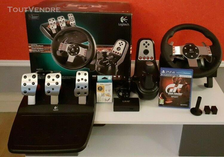 Kits logitech g27 racing wheel ps4/ps3/pc