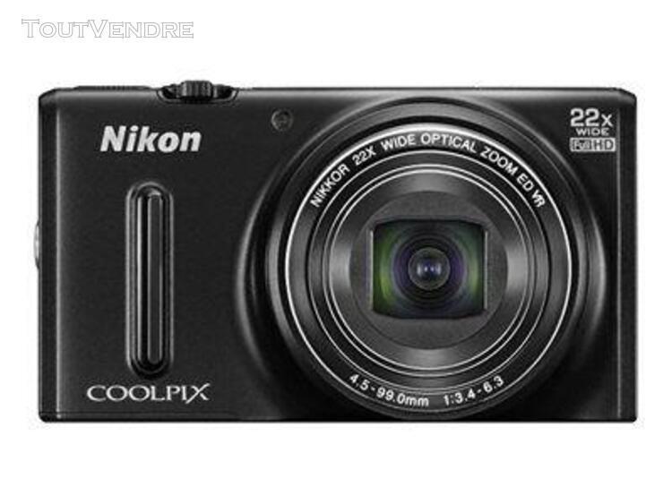 Nikon coolpix s9600 compact 16 mpix noir