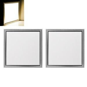 2x panneau led 30x30cm plafonnier 12w plafond éclairage