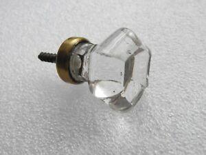 Ancien bouton poignée de porte en cristal bureau