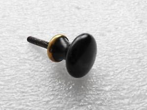 Ancien bouton poignée de porte porcelaine noir placard