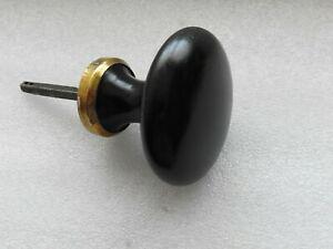 Ancien bouton poignee de porte en fonte émaillée noire