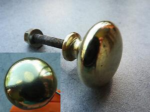 Ancienne poignée porte laiton bouton tiroir bureau serrure