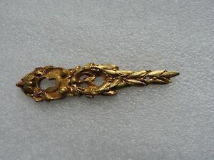 Ancienne rosace -entrée de serrure en bronze plaque clef