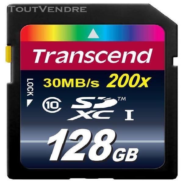 Transcend 128 go carte mémoire sdxc classe 10 ts128gsdxc10